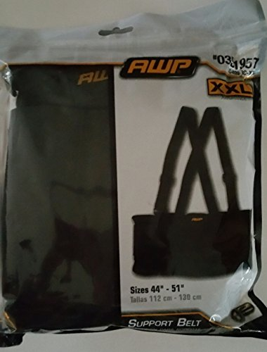 AWP Black XXL Back Support Belt for Sizes 44