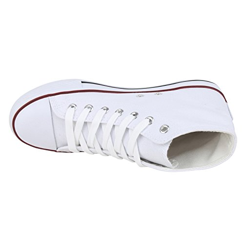 fashion Basic Napoli Chaussons Weiss Montants Femme Ywzdq