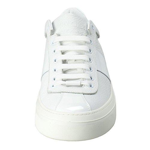 Jimmy Choo Portman Hommes En Cuir Blanc Chaussures De Mode Chaussures Nous 10 Il 43