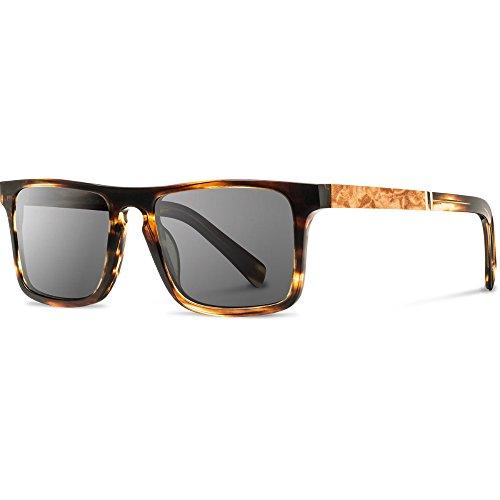 Shwood - Govy 2 Acetate, Sustainability Meets Style, Tortoise/Maple Burl, Grey Polarized - Fifty Shwood Fifty
