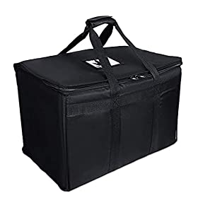 Professional Thermo-Insulated Food Delivery Bag (23″ x 14″ x 15″) with Divider – Waterproof Delivery Bag for Hot Food Delivery – Premium Thermal Lined Bag Grubhub, Uber Eats Doordash Food Delivery