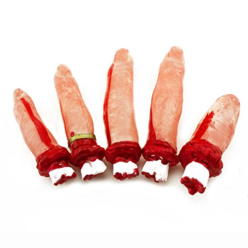 Horrible Fake Bloody Plastic Body Part Finger Severed Scary Halloween Prop Decor /#hp5070