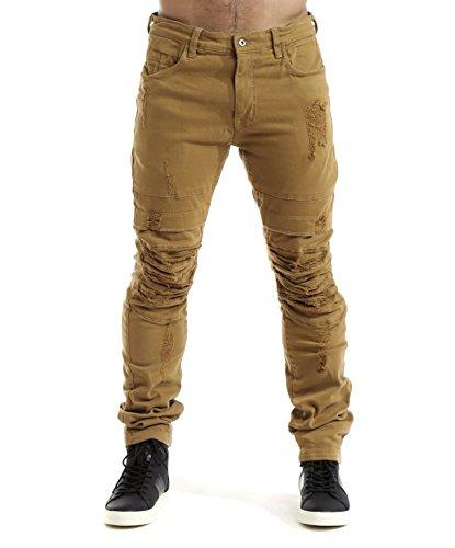 smoke-rise-mens-stretch-slim-fit-ripped-twill-span-pants-wheat-40-32
