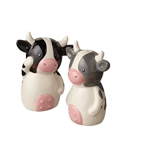 Dairy Cows Ceramic Salt & Pepper Shaker Set