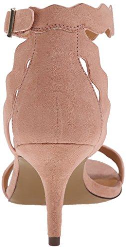 Sandalo Rosa Polveroso Di Camoscio Da Donna