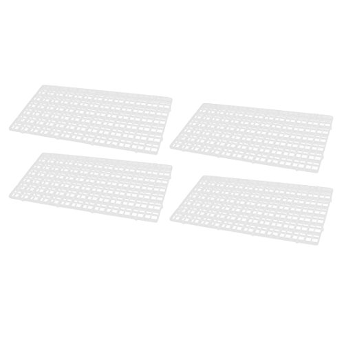uxcell Plastic Rectangle Aquarium Fish Tank Separation Board Isolation Plate 4pcs Clear -