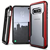 X-Doria Defense Shield Series, Samsung Galaxy S10e Phone Case - Military Grade Drop Tested, Anodized Aluminum, TPU, and Polycarbonate Protective Case for Samsung Galaxy S10e, (Red)