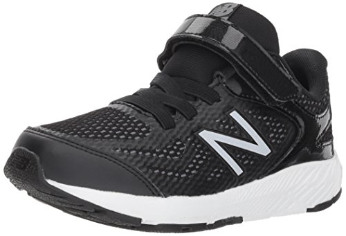New Balance Boys' 519v1 Hook and Loop Running Shoe Black/White 2 M US Infant by New Balance (Image #1)