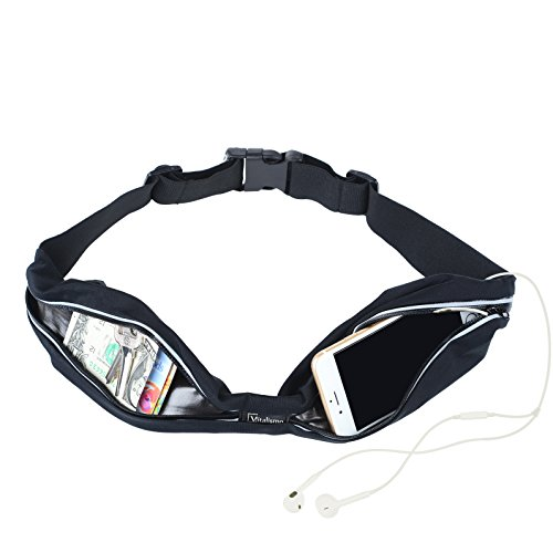 Cheap Running Belt-Vitalismo Fanny Pack Waist Pack Outdoor Sport Sweatproof Universal Sports Waist Belt for Any SmartPhone iPhone 6 /6S/6plus / SE Samsung Note Galaxy-with Headphone Cable Enjoy Music