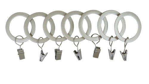 - UMBRA 1-Inch Square-Edge Clip Drapery Rings (Brushed Nickel)
