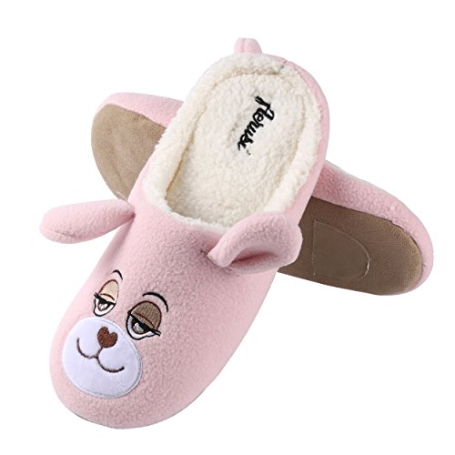 Winter Kid Indoor Aerusi Pink Adult Bear Bear Slipper Animal Flopsy Bedroom Teddy House Cute Plush Shoes Fuzzy 0fdAn