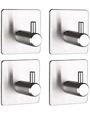 Kinbelle Self Adhesive Stainless Steel Hook for Key Coat Towel Robe Hanger Wall Door Bathroom Kitchen Dining Room