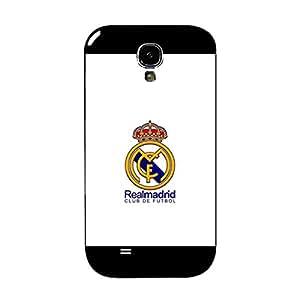 Newest Design Real Madrid Club de Futbol Logo Plastic Mobile Cover for Samsung Galaxy S4 I9500 FC Team Theme