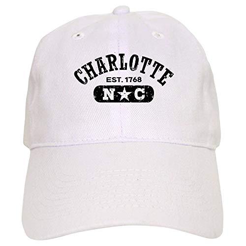 Charlotte NC Cap Baseball Cap with Adjustable Closure Unique Printed Baseball Hat