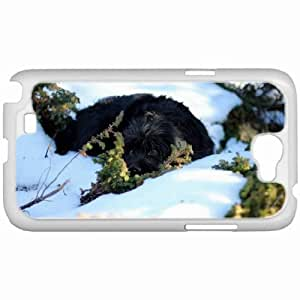 Customized Samsung Galaxy NOTE 2 Case, Diy Custom Samsung Note II Note2 Hard Shell Cover Casedog snow eyes White