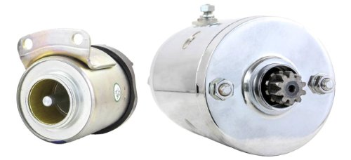 NEW CHROME STARTER AND SOLENOID FITS HARLEY SPORTSTER 1000 ROADSTER XLS 1979-1980 15-453 15453