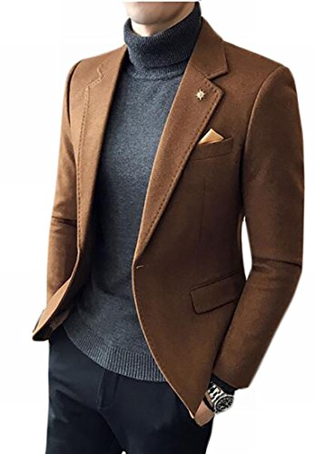 Blend Blazer Notched Sleeve Khaki today Mens Jacket Long Wool Fashion UK Collar tw1qz8w