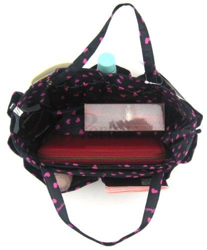Periea Organizzatore da Borsa Nero con cuori rosa, inserto da borsa-Tilly