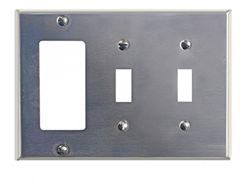 Switchplate Satin Stainless Steel Double Toggle/GFI | Renovator's Supply (Sst Satin)