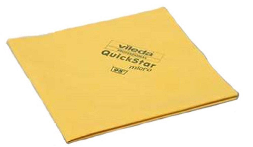 Vileda Professional 100256 QuickStar Microfiber Cloth Yellow (case of 100)