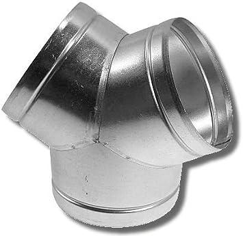 /Ø 100 mm, T-St/ück Rundrohrsystem Metall Alu-Flex-Rohr Verbinder T-St/ück Kaminaufsatz Reduzierst/ück Drosselklappe Verbinder mit R/ückstauklappe R/ückschlagklappe Y-St/ück Ablufthaube Deckenventil Wandrosette