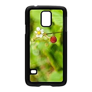 Mock Strawberry Black Hard Plastic Case Snap-On Protective Back Cover for Samsung? Galaxy S5 by Mick Agterberg + FREE Crystal Clear Screen Protector