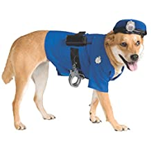 Rubie's Costume Co Police Dog Pet Costume, Large