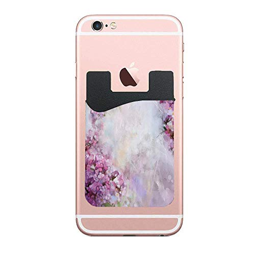 (Cellcardphone Roman Hyacinth Petals and Apricot Blooms in Grunge Colors Cell Phone Stick on Wallet Card Holder Phone Pocket for iPhone, Android and All Smartphones 2 PCS)