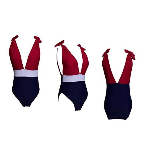 größe Bikini Elastizität Set Strand S Sexy Colorblock Taille