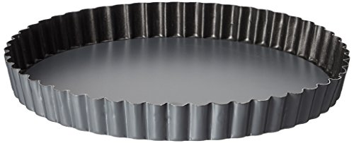 Matfer Bourgeat 332223 Exopan  Fluted Pie Pan with Removable Bottom