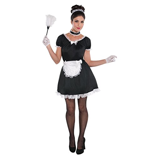 Amscan Standard Adult French Maid Costume Black ()