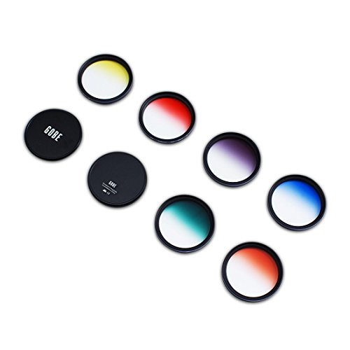 Lens Accessories Gobe Graduated Color 40 5mm Filters: Orange, Blue, Grey,  Red, Yellow, Green | PrestoMall - Lens