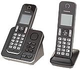 Panasonic KXTGD392B Dect 6.0 2-Handset Landline Telephone