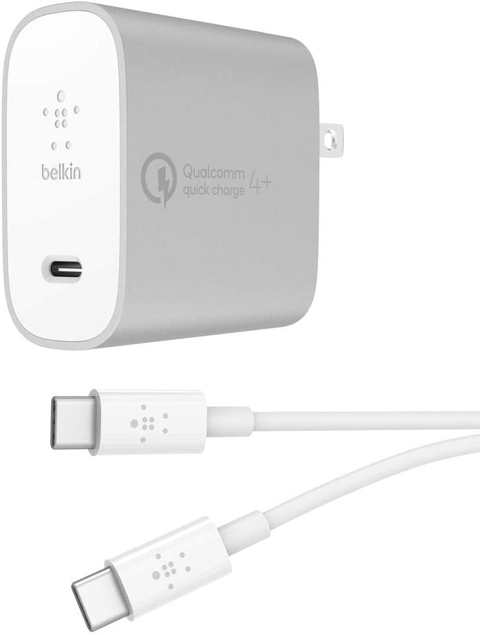 Belkin Boost Charge 27W Quick Charge 4+ Home Charger with 4ft/1.2m USB-C to USB-C Cable (Quick Charge 4+ Charger)