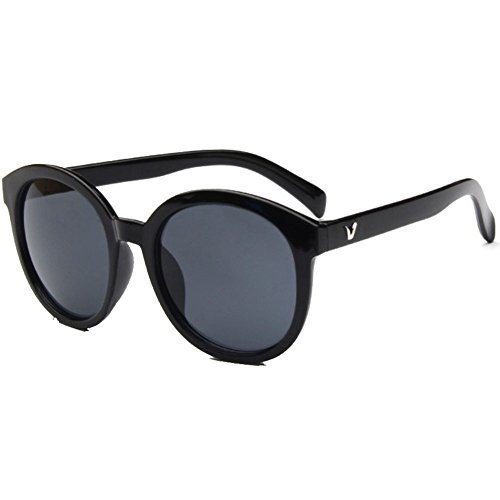 Sinkfish SG50010 Gift Sunglasses for Womens,Fashion - UV400/Black Frames/Black Lens ()