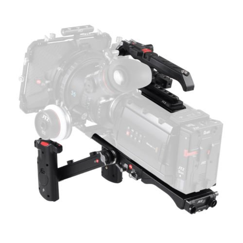 JTZ DP30 15mm Rail Base Plate + Electtronic Top Handle + Electronic Hand Grip Rig for Blackmagic URSA Mini (Support Zoom…