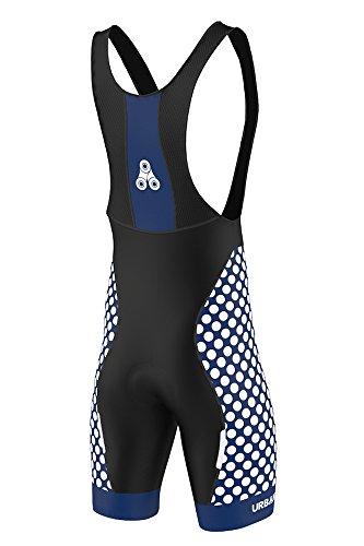 Men's URBAN CYCLING TEAM Short Sleeve Jersey & Bib Shorts Cycling Kit Set, Limited Edition (X-Large, ELITE ROYAL Bib Shorts)