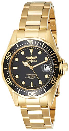 Invicta Men's 8936 Pro Diver Collection 23k Gold Plated Watch (Band Plated Rolex Gold Watch)