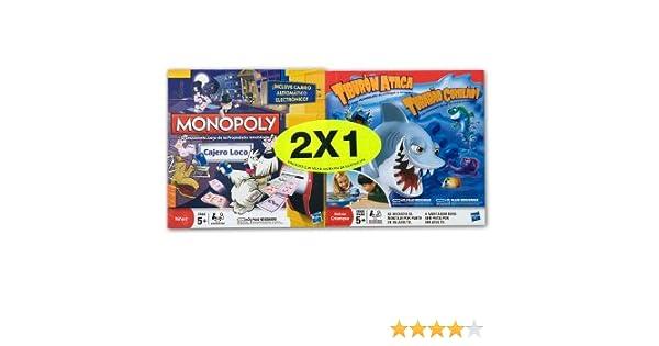 Hasbro Juegos en Familia Monopoly Cajero Loco + Tiburon Ataca A1679500: Amazon.es: Juguetes y juegos
