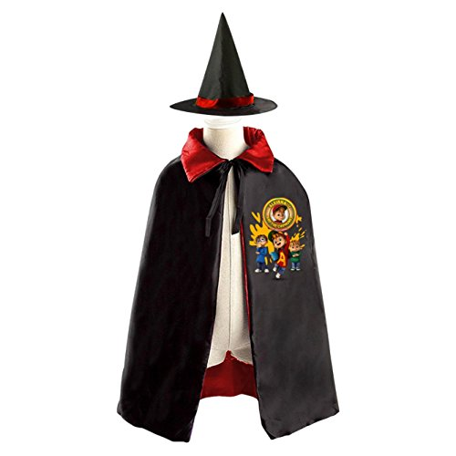 Alvin and the Chipmunks Meet the Wolfman Kids Halloween Party Costume Cloak Wizard Witch Cape With (Alvin Costumes)