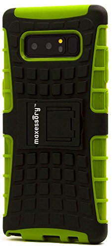 - Galaxy Note 8 Case, Maxessory Lime Green Offroad Shock-Proof Rugged Dual-Layer Armor Rigid Ultra-Slim Kickstand Protective Hard Tough Hybrid Phone Cover Shell