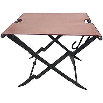 Amazon Com Mabef Mbm 39 Folding Stool With Leather Seat