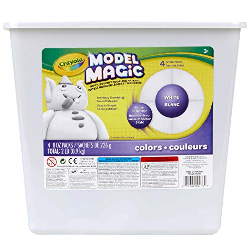 Crayola Model Magic White, Modeling Clay Alternative, 2 lb. Bucket, Gift ()