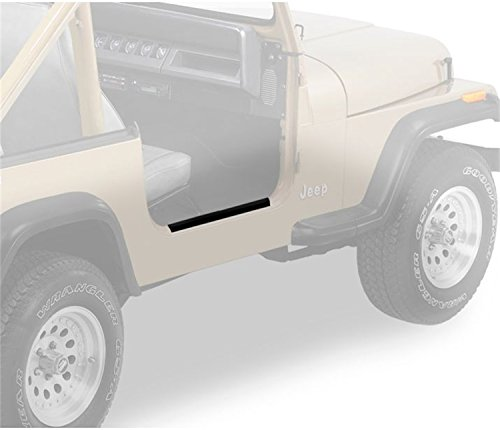 Bestop Sill Door - Bestop 51049-01 HighRock 4X4 Black Door Sill Entry Guard Set for 1997-2006 Wrangler TJ