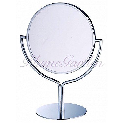 卓上鏡 プルーマ チューリップ 3倍の拡大鏡 高級な卓上ミラー クローム加工 ギフトにおすすめ B00VJS67VS