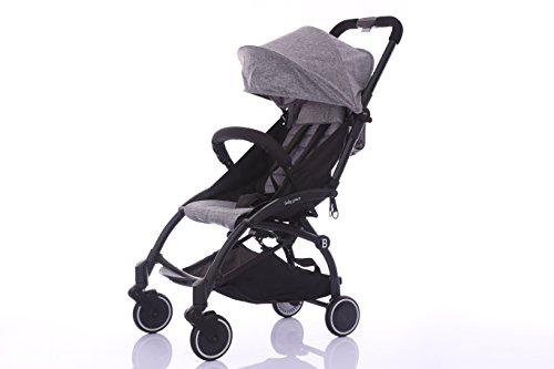 Babygrace Ultra lightweight Baby Stroller Folding Infant Stroller Travel System Anti-Shock Umbrella Stroller (Grey)