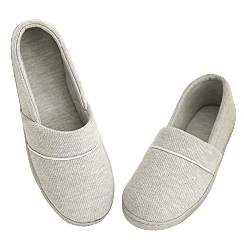 pour Femme Léger Pantoufles Enceinte Hiver Confortable Ssowun Slipper et Antidérapante Maison Chaussons Gris Chaud aPxBqqwd