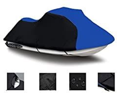 Our SUPER QUALITY Jet SKi Cover will protect your jet ski all year round. Cover is designed for: Storage, Mooring and Trailering purposes.Made from 600 Denier Technologically advanced Heavy-Duty Marine Grade Poly Material with urethaine coati...