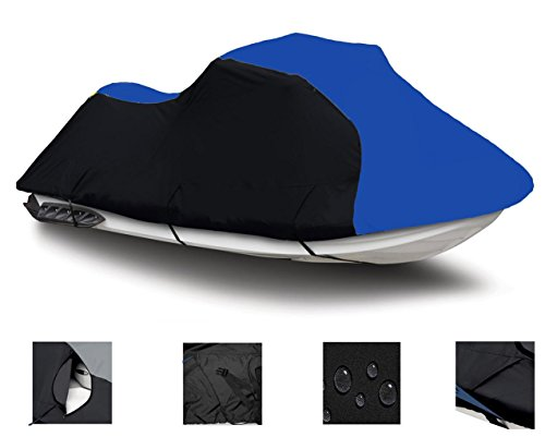 BLACK / BLUE SUPER HEAVY-DUTY, TOP OF THE LINE Yamaha VXR 2015 2016 2017 2018 Jet Ski PWC Cover