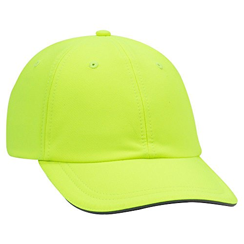 OTTO 6 Panel Low Profile UPF 50+ Cool Comfort Performance Knit Running Cap - N. Yellow